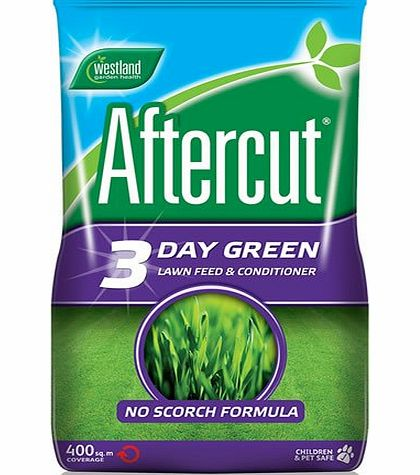 Westland 400M² WESTLAND AFTERCUT 3 DAY GREEN LAWN FOOD TREATMENT GRASS FEED FERTILISER