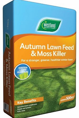 Westland Autumn Lawn Feed and Moss Killer 500sqm