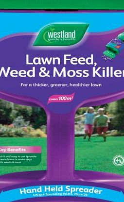 Westlands Horticulture Ltd Westland Lawn Feed Weed and Moss Killer 100m2 Spreader