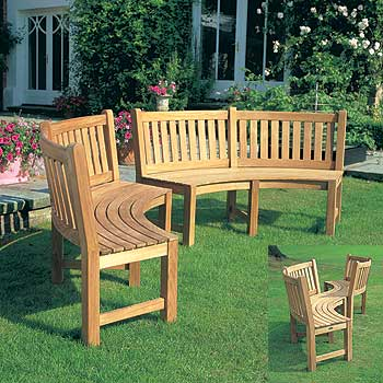 Westminster teak brighton curved bench furniture store for Q furniture brighton co