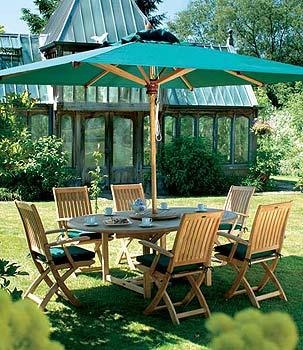 Teak Market Umbrella - Gardening Supplies - Compare Prices
