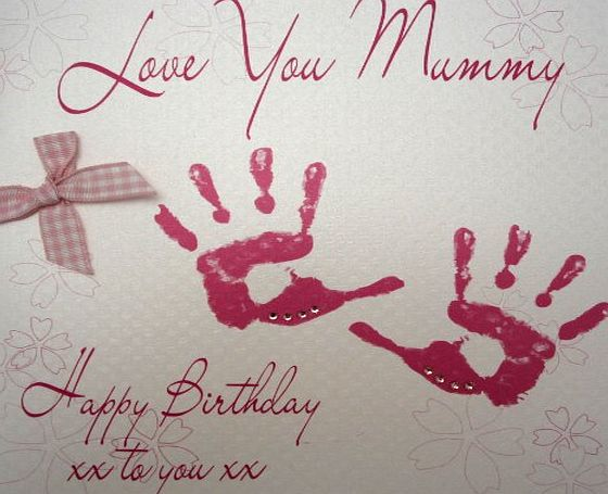 WHITE COTTON CARDS  BD45 Love You Mummy Happy Birthday To You Handmade Birthday Card