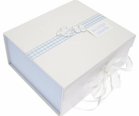 WHITE COTTON CARDS  New Clothes Baby Boy A5 Keepsake Box