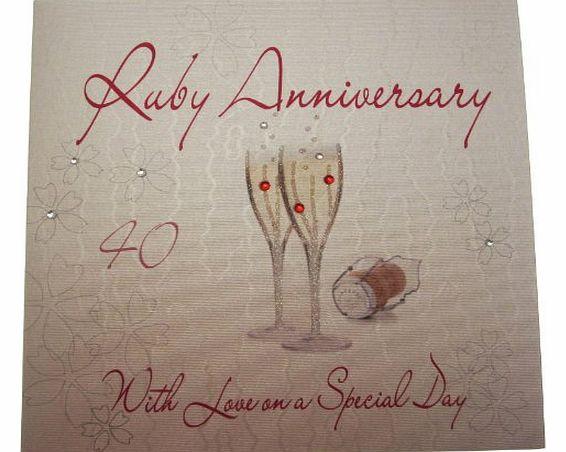 Ruby Wedding Gifts John Lewis: Champagne Glass