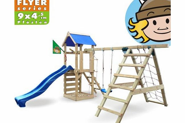 Wickey  StarFlyer Climbing frame, climbing tower with slide, swing, sandpit + complete accessory set product image