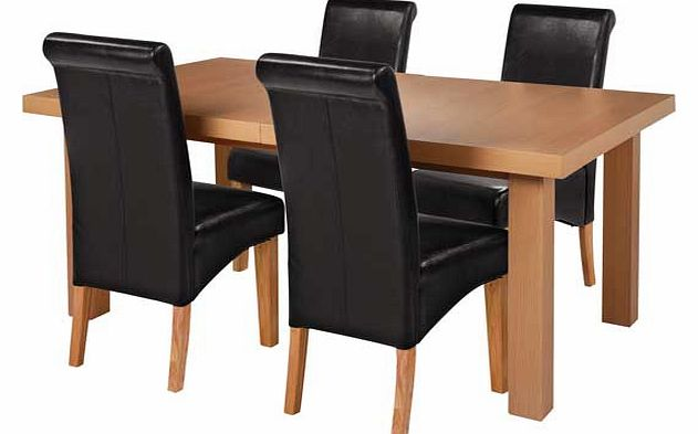 Table And Black Leather Dining Chairs Nook For Ashley
