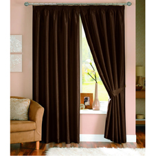 Wilkinson Plus Java Lined Curtains Chocolate 66inx90in