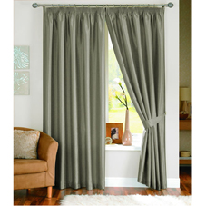 Java Lined Curtains Pewter 90inx90in