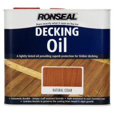 Ronseal Decking Oil Natural Cedar 2.5ltr
