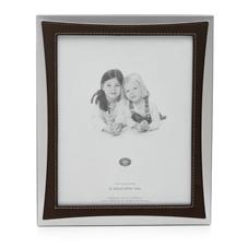 wilkinson plus wilko photo frame bonded leather silver. Black Bedroom Furniture Sets. Home Design Ideas