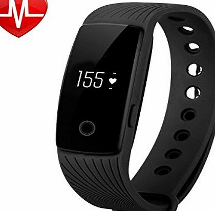 Willful SW321 Smart Bracelet Heart Rate Monitor Fitness Tracker Pedometer Wristband with Step Calorie Counter Sleep Monitor Alarm Clock Call SMS Notification for iPhone Samsung IOS and Android Phones