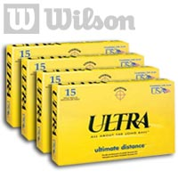 4 x Wilson Ultra Ultimate Distance Balls (15 pack)