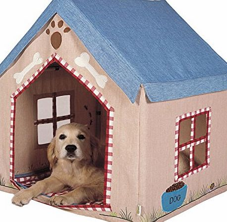 Win Green Large Fabric Portable Dog House / Kennel / Pet Bed Home with Floor Quilt