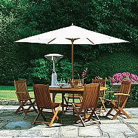 Windsor Five-Piece Hardwood Patio Set.  Includes t - CLICK FOR MORE INFORMATION