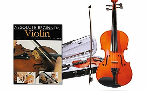 Quarter 1/4 Size Violin Package With Absolute Beginners Guide Book