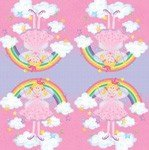 RAINBOW PRINCESS NAPKINS X 20 - PRINCESS PARTY THEME SUPPLIES AND PRODUCTS