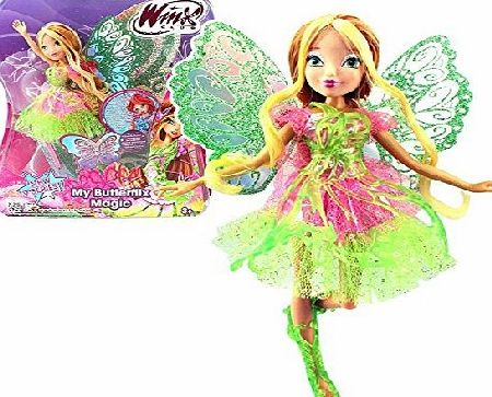 Witty Toys Winx Club - My Butterflix Magic - Flora Doll and Double Wings
