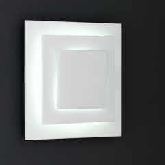 Indoor Wall String Lights : Wofi Lighting Sakai Square White Wall Light - review, compare prices, buy online