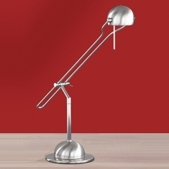 York Nickel Adjustable Desk Light