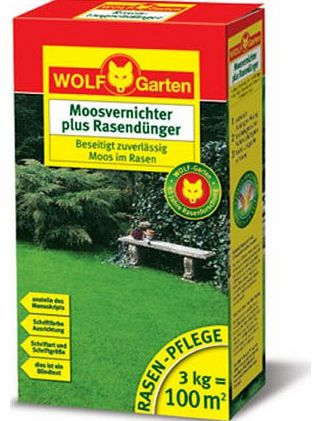 Wolf-Garten  Moss Killers and Lawn Fertiliser LW 100 for 100 qm