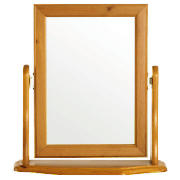 Dressing Table Mirror, Antiqued Pine