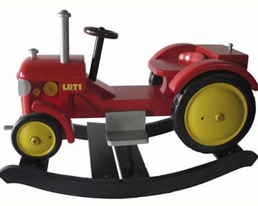 Wooden Rockers Little Red Tractor Rocking Horse