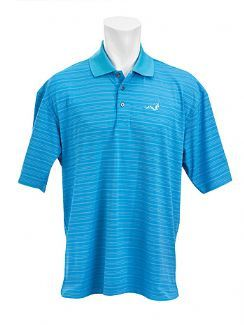 ERNIE ELS WOODWORM GOLF PERFORMANCE STRIPE SHIRT Red / Large