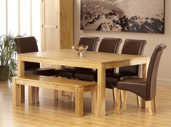 world furniture octavia rectangular dining set in american