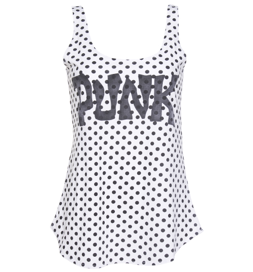 Worn By Ladies Punk Spot Vest from Worn By product image