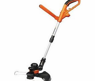 The Worx 550W Grass Trimmer has an adjustable handle and shaft for added comfort. The trimmer head can be angled from 0 to 90 allowing you to cut sloped surfaces and under low-lying objects such as hedges with ease. Model number: WG118E. Features: 55 - CLICK FOR MORE INFORMATION