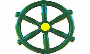 www.happycloud-swingsandslides.com Bargain Price GREEN PIRATE SHIP BOAT STEERING WHEEL for CLIMBING FRAME NEW product image