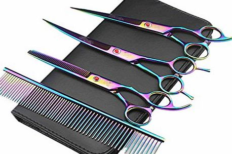 Xagoo Scissors Professional Hairdressing Scissors,Hair Thinning Scissors Xagoo® Hair Cutting Scissors Pet Grooming Scissor for Hairdressers amp; Hair Stylists(Colorful)