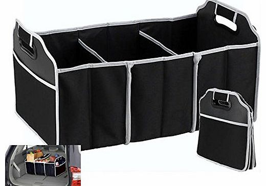 Xett 2-in-1 Collapsible Car Boot Trunk Organiser