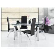 Dining Table Novara Dining Table Clear Glass