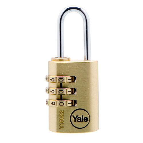 yale Combination 30mm Brass Padlock product image