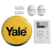 This Yale family alarm has entry and exit delays, 2 PIR sensors and a PIR motion detector. Up to 20 personal devices can be added to this wireless, wall mountable system. Uses batteries (included) 1xD, 1xAAA, 1xCR2032. - CLICK FOR MORE INFORMATION