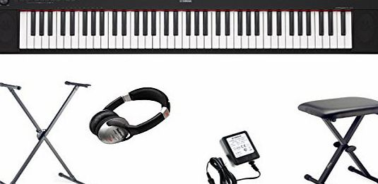 Yamaha NP-32 Piaggero Portable Digital Piano Keyboard including AC Adapter, X Stand, X Stool, Headphones