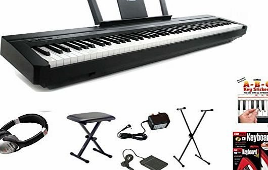 Yamaha P45 Digital 88 Weighted Key Stage Piano Deluxe Package (P-45 P 45)