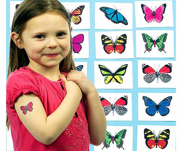 Beautiful Butterfly Tattoos - Pack of 24