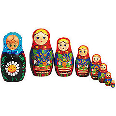 7-Piece Wooden Russian Dolls