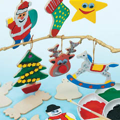 yellowmoon Christmas Wooden Tree Decorations
