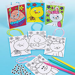 Colour-in Wiggle-Eye Mini Easter Gift Bags