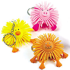 Flashing Funky Friends Keychains