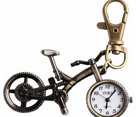 Vintage Bicycle Bike Pocket Key Pendant Quartz Watch