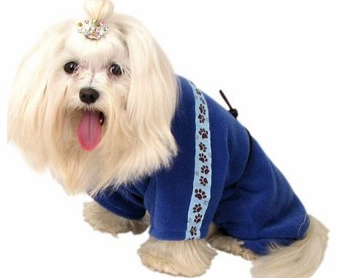 York Design Clothes for dogs navy-blue polar tracksuit Size 33-37 30-33 42-46