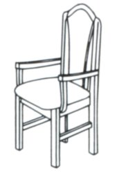York Dining Chair - Upholstered Back with Arms