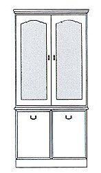 York Display Cabinet - Glazed 2 Door