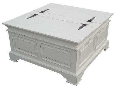 Furniture Tables on Your Price Furniture Co Uk Kristina White Painted Blanket Coffee Table