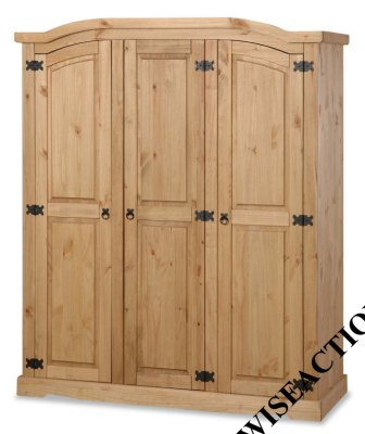 Your Price Furniture.co.uk Porto 3 Door Fitted Curved Top Wardrobe product image