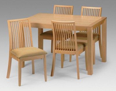 Your Price Furniture Salisbury Beech 4 Seater Dining